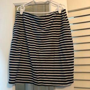 Ann Taylor navy stripped skirt